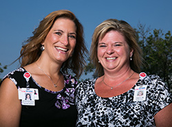 Deb Brausen (left, UW Health Vice President of Specialty Care Clinics) and Tracy Weber (right, general surgery nurse) were at the right place at the right time - with the right skills - when a woman collapsed while the two were on a camping trip in Rio