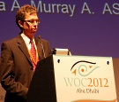 UW Health ophthalmologist Dr. Mark Lucarelli at the World Ophthalmology Congress in Abu Dhabi