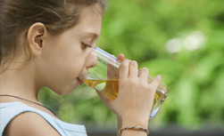 UW Health Pediatric Voice and Swallowing: Girl drinking water