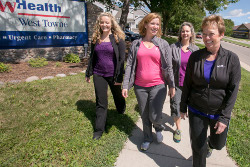 UW Health employees walking near the West Towne Clinic