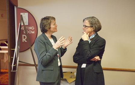 Drs. Ellen Hartenbach and Laurel Rice