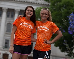Liver recipients Michaela and Haley go orange for Orangetober every year.