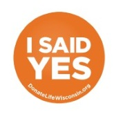 UW Organ and Tissue Donation Orangetober imagery: I Said Yes