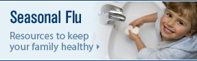 Girl washing hands; Seasonal Flu and H1N1 Resources