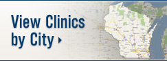 View UW Health Clinics by City; Wisconsin map