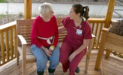 patient and therapist; UW Health Rehabilitation Hospital; Madison, Wisconsin