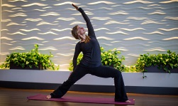 UW Health Wellness Studio yoga classes: Yoga instructor in studio