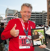 Ken ran the Detroit Marathon after learning his donor was a track athlete.
