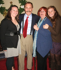 After Brian's transplant (from left to right): daughter Ashley, Brian, wife Kathy and daughter Bernadette