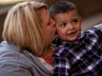 UW Health pediatric transplant: Transplant patient Ezekiel with his mother