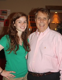Brian (right) with his daughter Bernadette prior to his liver transplant