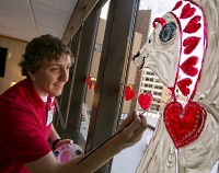 The Art in Health Care volunteer position helps make the hospital more beautiful and patient-friendly.