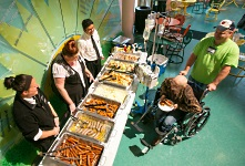 Family meal at American Family Children's Hospital.