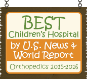 Ranked a Best Children's Hospital by U.S. News and World Report: Orthopedics 2015-16