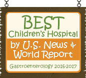Ranked a Best Children's Hospital by U.S. News and World Report: Gastroenterology 2016-17