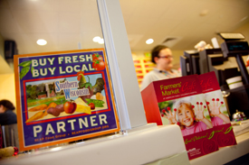The Farmers' Market Cafe at American Family Children's Hospital is part of the Buy Fresh, Buy Local program.