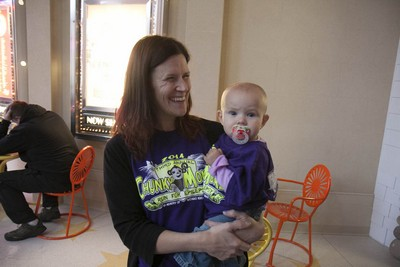 Mandy Koch with her 13-month-old daughter Zuriahna.