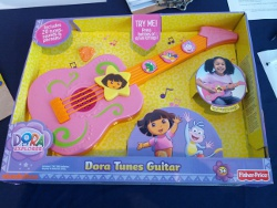 The Dora Tunes Guitar exceeds CPSC standards for decibels, according to USPIRG.
