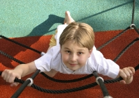 Boy on climbing ropes; UW Health Pediatric Fitness Featured in New Documentary