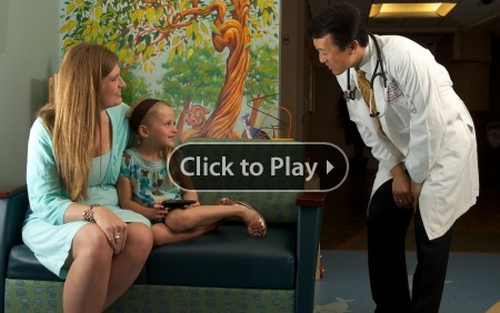 American Family Children's Hospital Emergency Department: Child, mother and doctor
