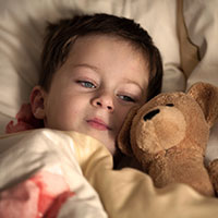 UW Health pediatric diabetes quiz: Young kid sleeping