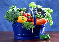 American Family Children's Hospital Pediatric Diabetes resources: A bucket of vegetables