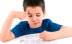American Family Children's Hospital diabetes quiz: Boy taking a quiz