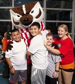 Pediatric Fitness Clinic: Bucky Badger and a few kids