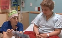 Dealing with pain; preparing for surgery at American Family Children's Hospital; Madison, Wisconsin