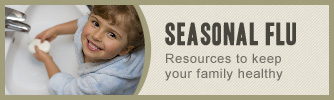 Seasonal flu resources: A child washing her hands