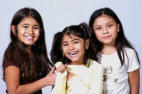 Asthma advocacy program: Three young girls
