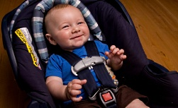 American Family Children's Hospital Safe Kids coalition: child in safety seat