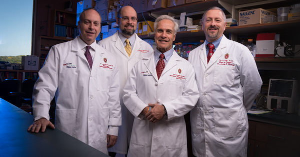 Pediatric oncologists and researchers Drs. Ken DeSantes, Paul Sondel, Christian Capitini and Mario Otto are advancing the treatment of pediatric cancer