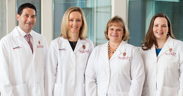UW Health's Endocrine Surgery Team includes Dr. DAvid Schneider, Dr. Susan Pitt, Dr. Rebecca Sippel and Dr. Kristin Long