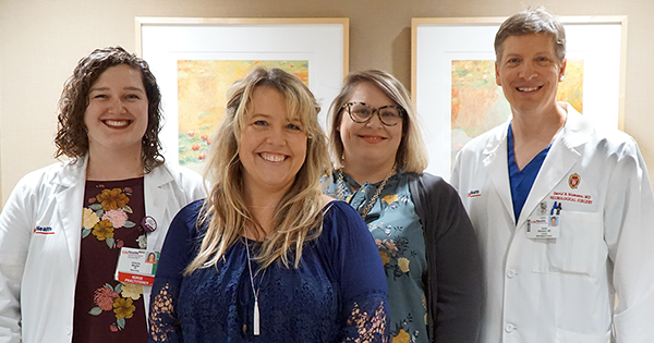 Jennifer Gardner and her Stroke care team