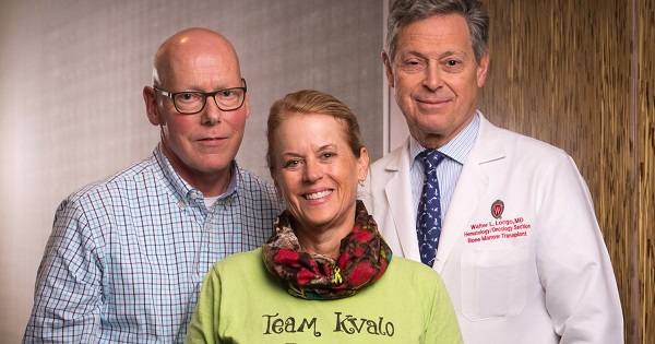 Mike and Robin Kvalo and UW Health oncologist Dr. Walter Longo understand how important teamwork is during cancer treatment