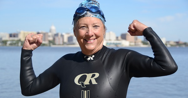 Through swimming, Mary Gooze is working to make a difference for those affected by metastatic breast cancer, which she has been living with for four years