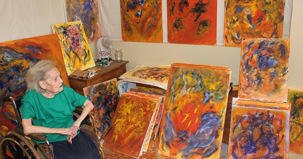 Betty Lencer's love of art has kept her young and vital through treatments for brain tumors and breast cancer.