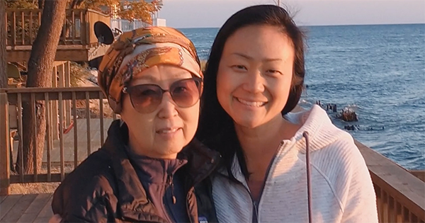 Sun Lim with her daughter, Angel Recht