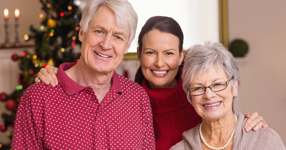 Adult daughter and patients; UW Health geriatricians offer tips for helping people with dementia cope during holiday gatherings