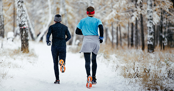 Running in the woods; UW Health Sports Medicine experts offer tips to keep running even during winter weather