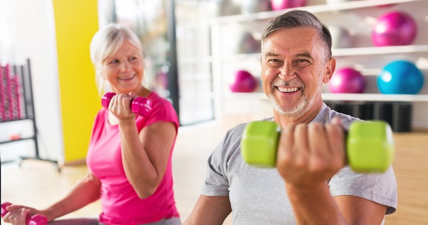 Couple exercising; Exercise helps fight the effects of Parkinson's disease and other movement disorders