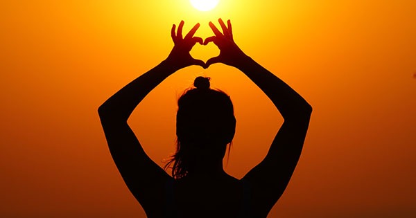 Heart silhouette: Yoga can help maintain a healthy heart