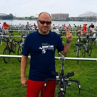 Research Deric Wheeler is working to make a difference by organizing The Ride to raise funds for cancer research at the UW Carbone Cancer Center