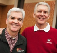 UW Carbone Cancer Center Interim Director Dr. Howard Bailey and Two-time U.S. Open Champion Andy North