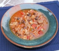 Beef Barley Soup with a Kick