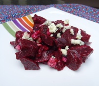 Beet Salad with Honey Mustard Dressing