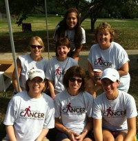 Diane Wells and friends during the 2011 Carbone Cancer Center's Walk Away From Cancer