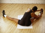 Diabetes Nutrition: woman stretching