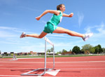UW Health Diabetes Management: Woman jumping over hurdle